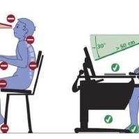 Как правильно сидеть за компьютером
