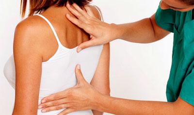 Признаки поражения грудного отдела