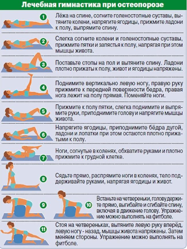 Техника выполнения упражнений при остеопорозе