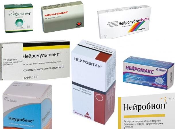 Комплексы витаминов при радикулите